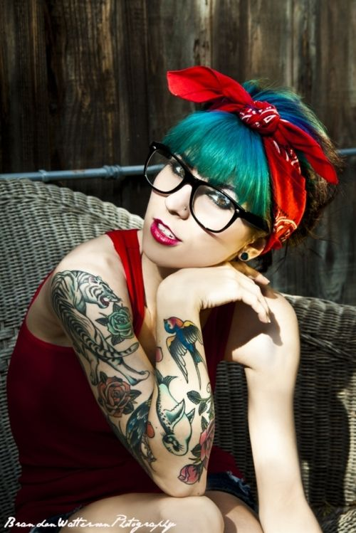 crazy pin-up ink and hair!