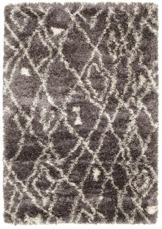 Covor Berber style Shaggy Net - Grey RVD5525 230x160 - CarpetVista - RugVista