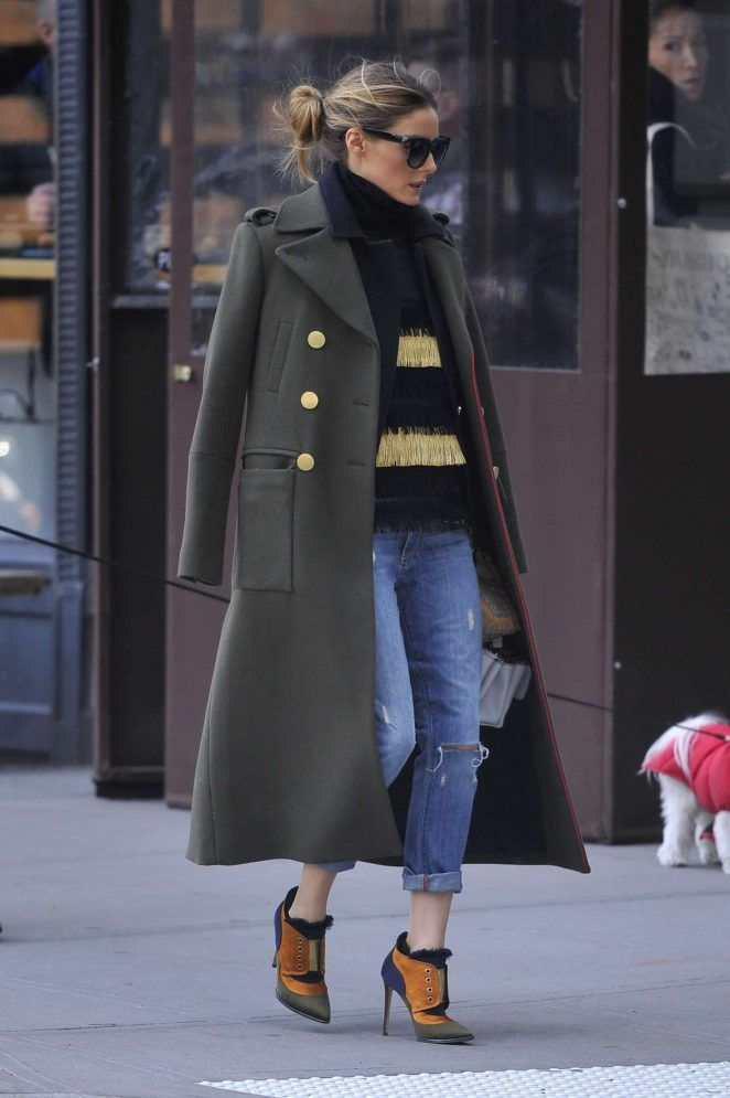 Olivia Palermo in Jeans out in New York City - December 2016