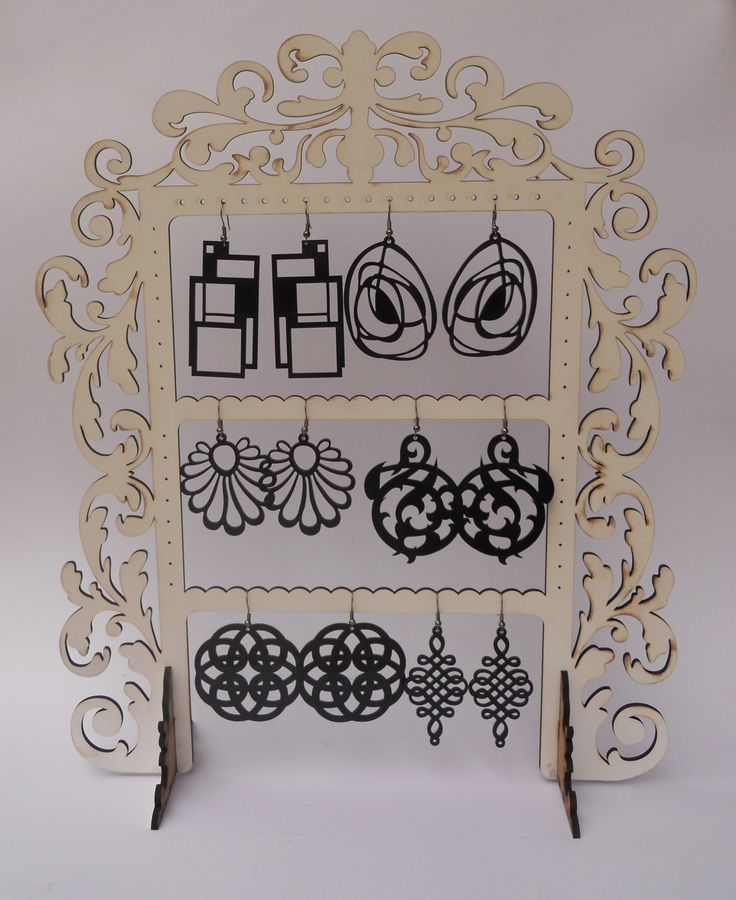 Laser Cutting Earrings and Earring Hanger