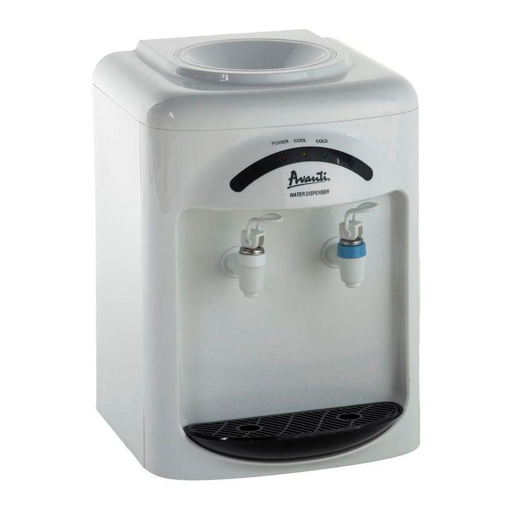Avanti Countertop Water Dispenser In White Water Dispenser