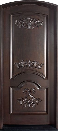 Mahogany Solid Wood Front Entry Door - Single