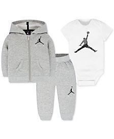 Jordan Baby Boys' 3-Pc. Air Fleece Hoodie, Bodysuit & Pants Set