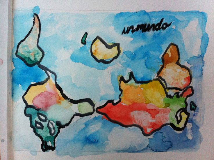 One world, in aquarelle
