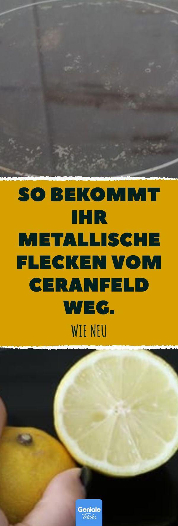 So bekommt ihr metallische Flecken vom Ceranfeld w…