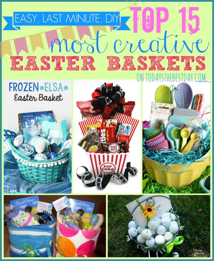 83 best basket ideas images on pinterest auction ideas top 15 most creative easter baskets everything from baby to dad seriously some creative negle Image collections