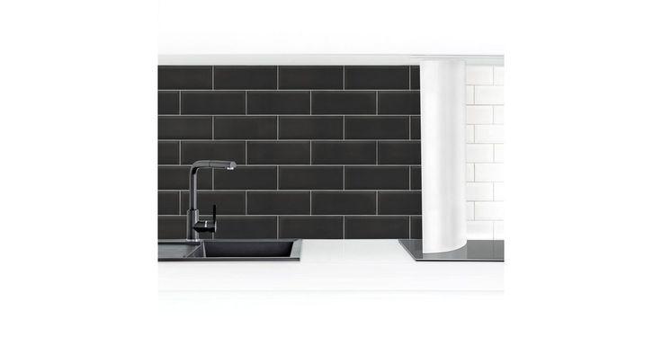 Küchenrückwand »Keramikfliesen Schwarz«