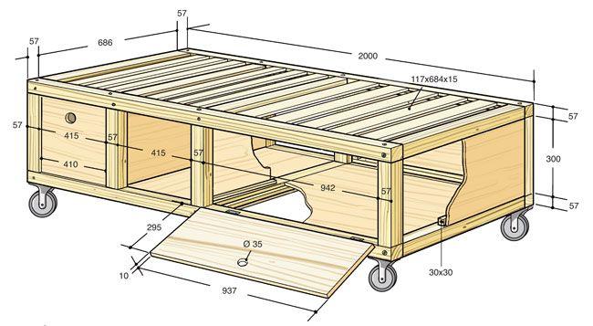 Oltre 25 fantastiche idee su costruire un letto su pinterest - Divano letto fai da te ...