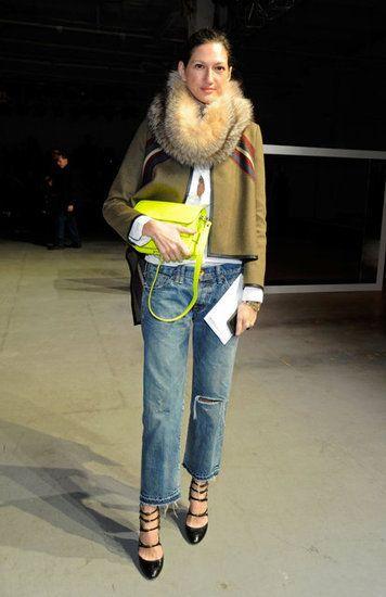 Jenna Lyons Boyfriend Jeans + Neon