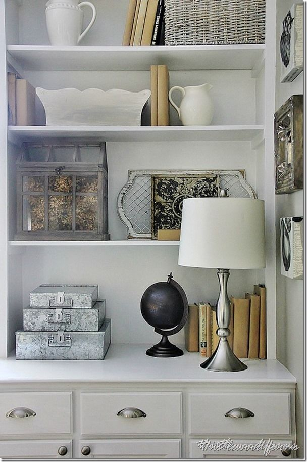 How to Decorate a Bookcase: Five Things Every Bookcase Needs | Thistlewood Farms