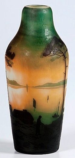 Glass France A Muller Freres Glass French Cameo Vase