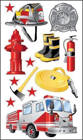 Sticko Scrapbooking Stickers  Fireman by MyStickerCollections