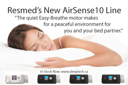 Resmed's AirSense10 -quiet Easy-Breathe motor makes for a peaceful environment for you & your bed partner. #peacefulcpap #cpapmachines #sleeptech