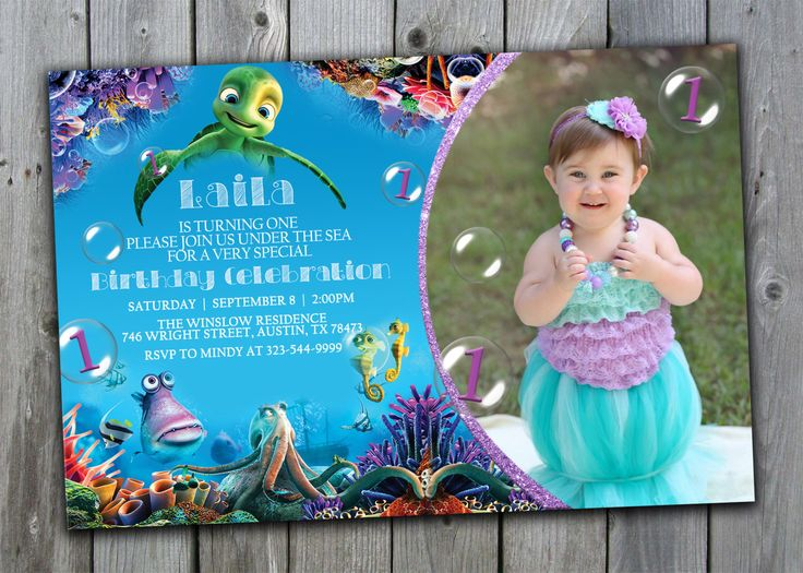 A Turtles Tale Birthday Invitation, Under the Sea Birthday Invitation, Under the Sea Invitation, Finding Nemo Birthday Invitation, Customize by PerfectPrintableCo on Etsy https://www.etsy.com/listing/243525549/a-turtles-tale-birthday-invitation-under