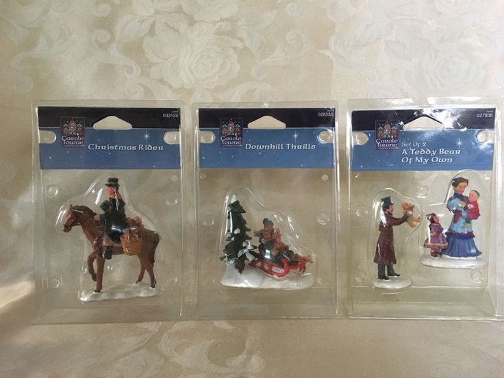 Carole Towne Victorian Village Three (3) Figurines EUC In original packaging #CaroleTowne #VictorianVillage