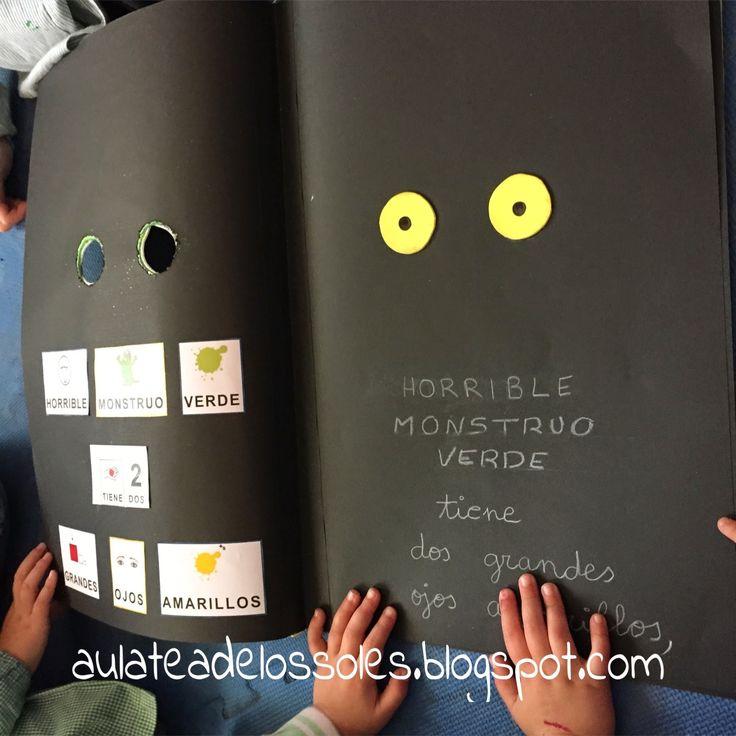 EL AULA DE LOS SOLES, UN AULA LIBRE DE FICHAS Y LIBROS DE TEXTO PARA NIÑOS CON TEA: ADAPTANDO CUENTOS:¡ FUERA DE AQUÍ HORRIBLE MONSTRUO VERDE!
