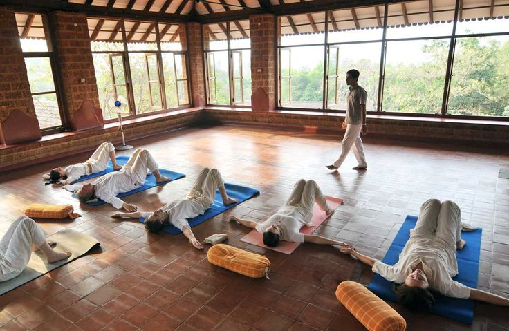 Yoga session in progress at the yoga shala.
