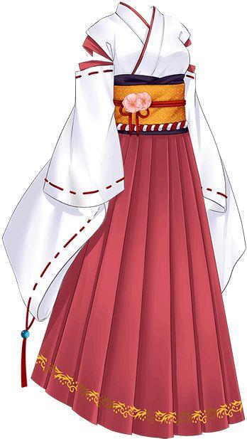 Japanese trandtional female shaman clothing