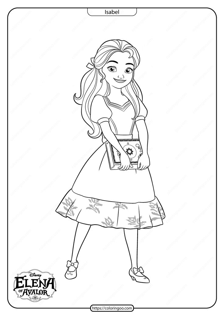49++ Disney elena coloring pages information