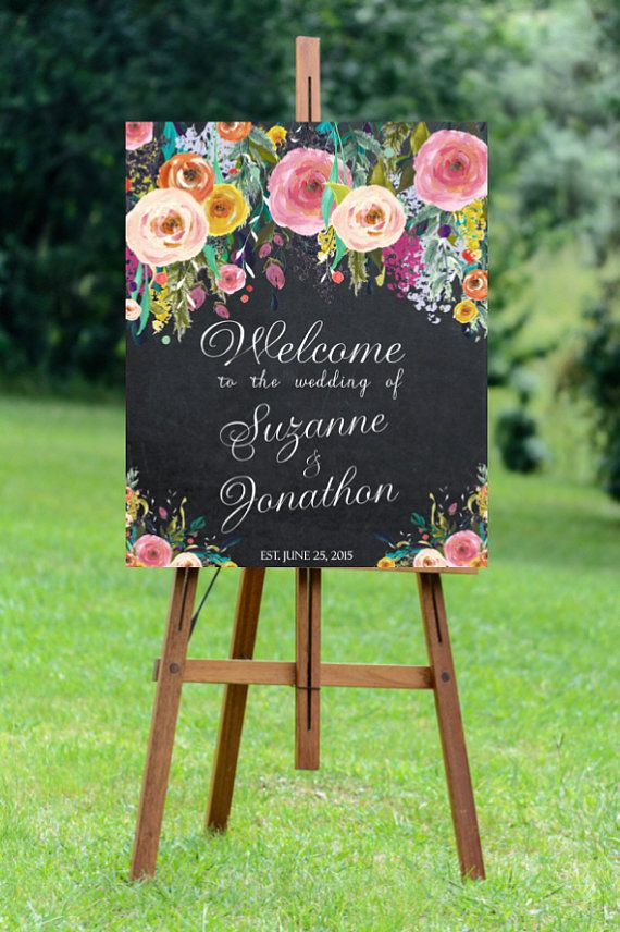 printable wedding sign custom wedding sign by OurFriendsEclectic