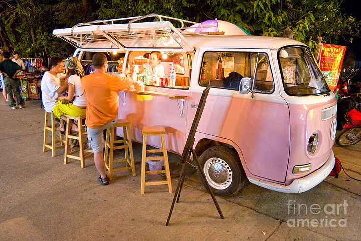 vintage pink volkswagen bus photograph by luciano mortula. Black Bedroom Furniture Sets. Home Design Ideas