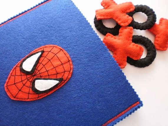 Spiderman Tic Tac Toe Game Set  ready to ship by twinsandcrafts