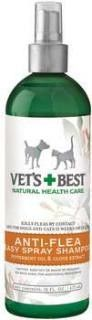 Bramton Company Vets Best™ Natural Anti-Flea Easy Spray Shampoo (16 oz)