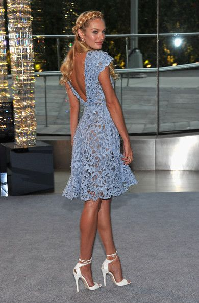 Candice Swanepoel Cocktail Dress  violet blue lace