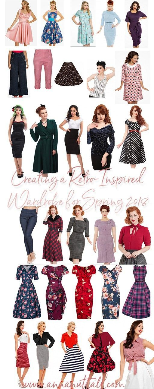 If you know me, you would know that I do like a lot of  retro-inspired dresses. Since I am loving a lot of retro-inspired  dresses, I thought I would show you how you can be creating a  retro-inspired wardrobe for sprig 2018.