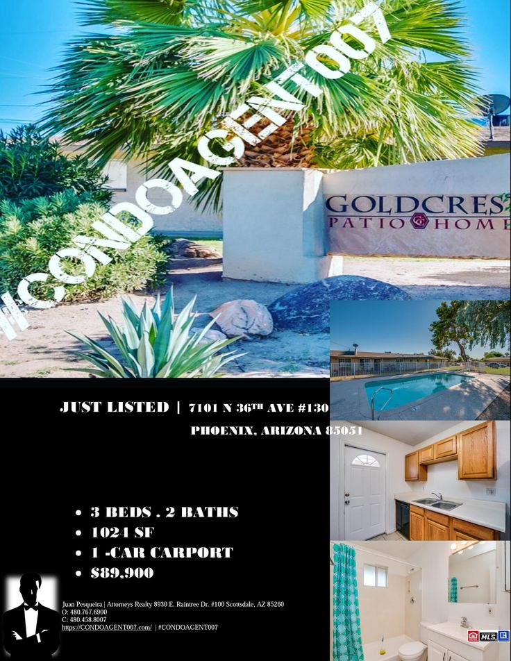 Flyer for our new condos listing 7101 N 36TH AVE 130, Phoenix, AZ 85051 asking only $89,900