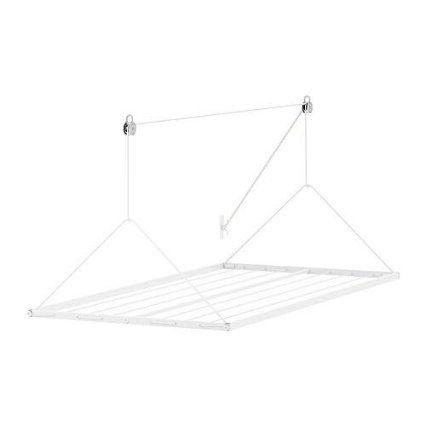 """IKEA Hänge-Wäscheständer """"Antonius"""" höhenverstellbare Wäschetrockner - 9m Trockenkapazität - 107x54cm - weiß"""