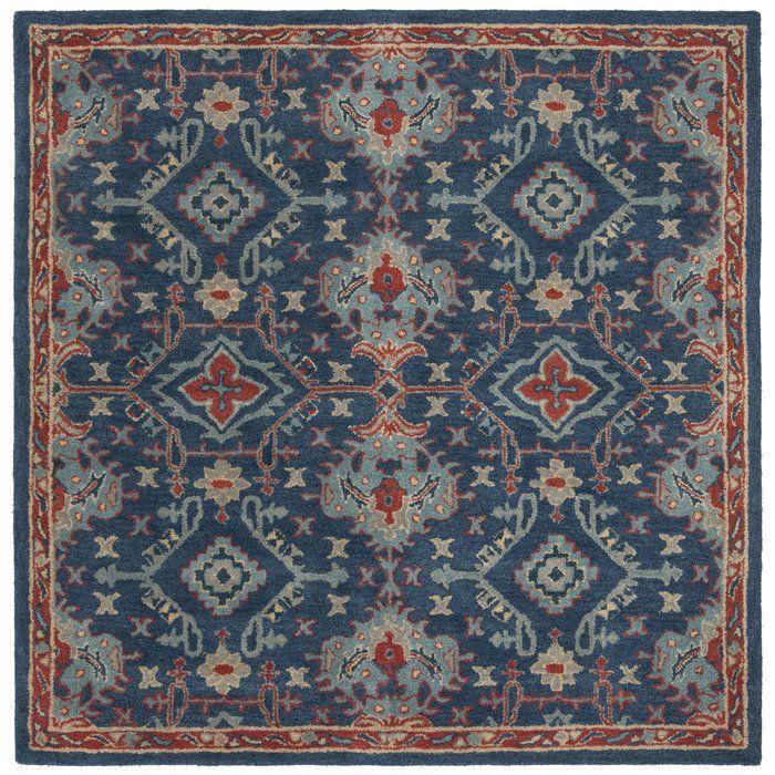 Albrightsville Hand Tufted Wool Blue Area Rug Reviews Allmodern Rugs Blue Area Rugs Oriental Wool Rugs