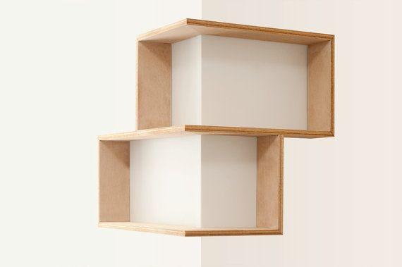Corner shelf display cabinet book vintage midcentury by Senkki