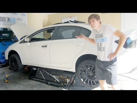 Are QuickJack Portable Car Lifts Worth It? - Changing an Exhaust On a Honda Civic - YouTube