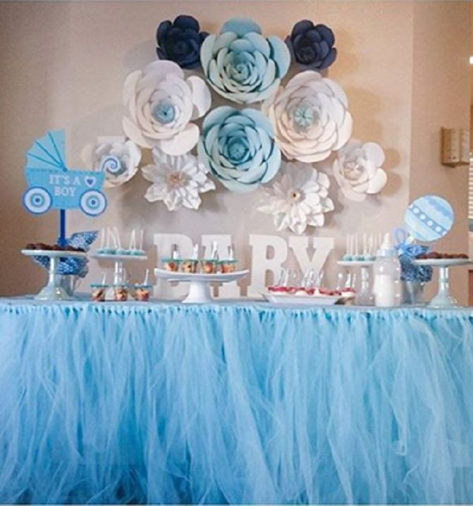 49 best decoraciones con flores de papel images on - Baby shower decoracion ...