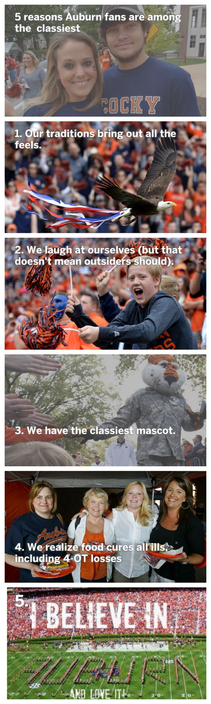 Article says Auburn fans are classiest. War a eagle!