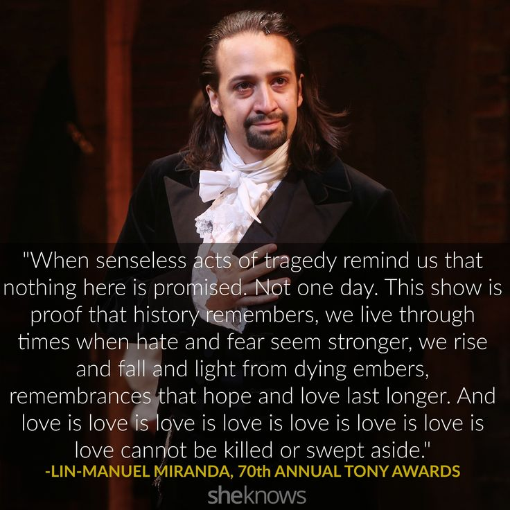 Proving he's the true Shakespeare of our time, Lin-Manuel Miranda moved viewers to tears once again with his acceptance speech, a sonnet. #TonyAwards