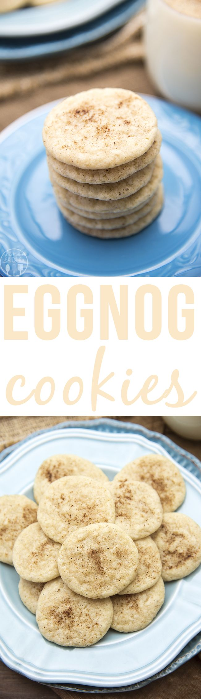 Eggnog Cookies - These delicious eggnog cookies have the great taste of eggnog in a cookie! With 1/2 cup of eggnog, cinnamon, and nutmeg, these are the perfect holiday cookies! #shareyourdelight #ad