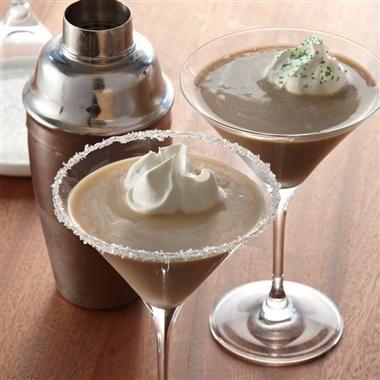 Creamy Irish Coffee Martini - a cool cocktail #recipe perfect for St. Patrick's Day celebrations.