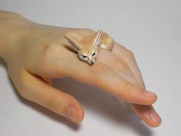 Amazing Handmade Animal Polymer Clay Rings by Jiro Miura