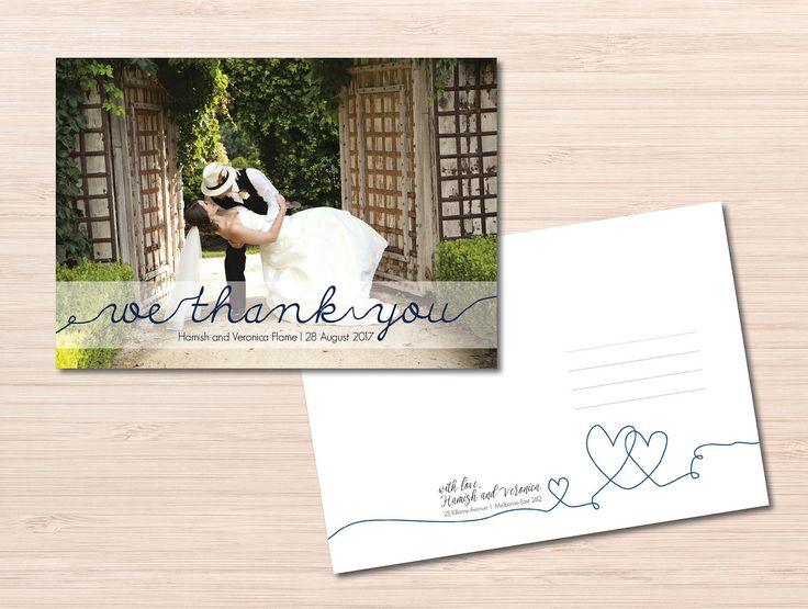 Wedding Thank You Notes ~ Wedding Thank you Cards ~ Handwritten Font ~ Custom Postcards ~ Custom Thank You Cards ~ Handmade Cards