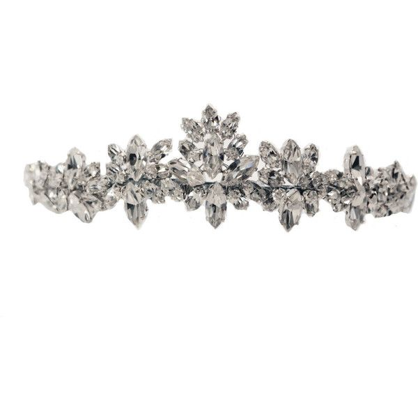 Jaynee Kate Middleton inspired peak diamante tiara - Tantrums and... ❤ liked on Polyvore featuring accessories, hair accessories, tiaras, crowns, jewelry, tiara crown and crown tiara