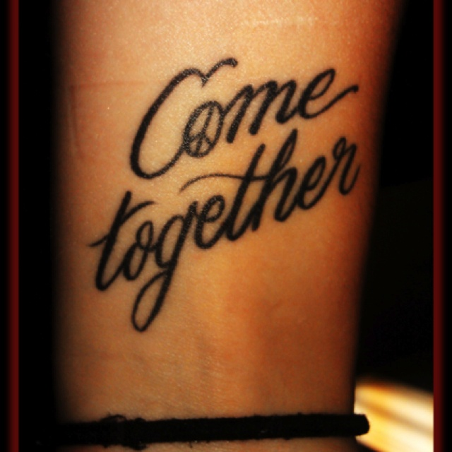 Come together tattoo inked up pinterest for Where do tattoos come from