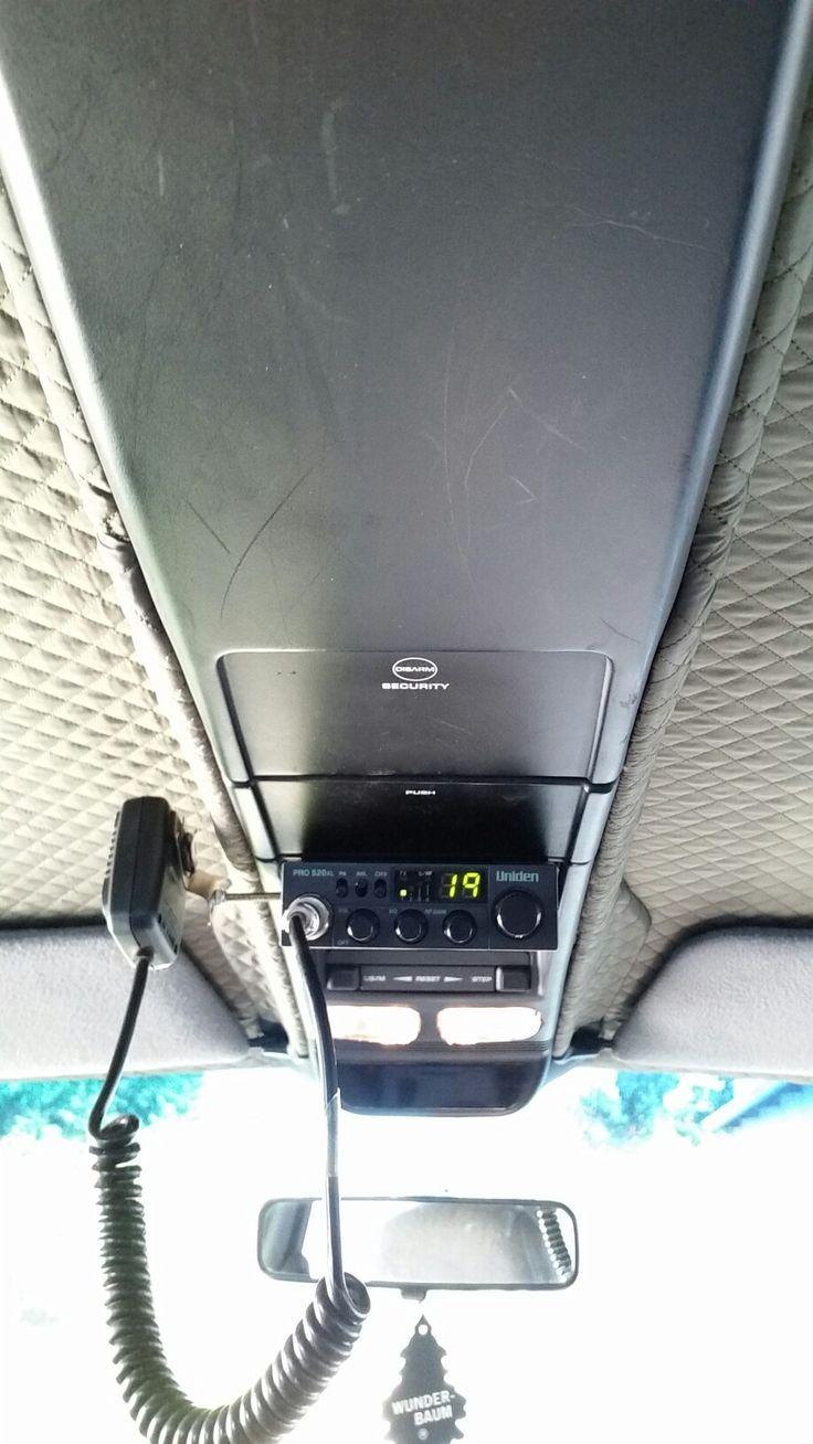 CB Radio Uniden 520xl w panelu sufitowym Jeep Cherokee XJ #jeep #cherokee #xj #cb radio #uniden 520xl