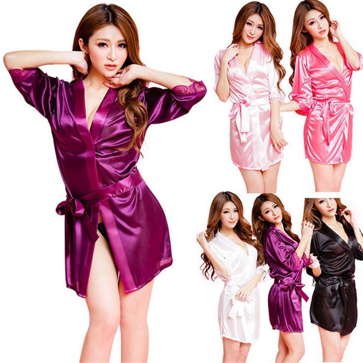 Hot Women Fashion Classic Bathrobe Pure Role-playing Sexy Lingerie Wild Temptation