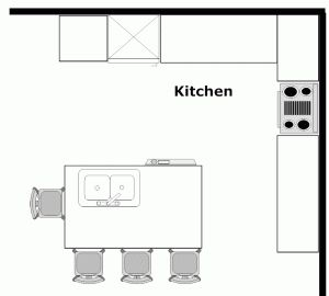 Island Kitchen Floor Plan 11 best kitchen floor plans images on pinterest | kitchen floor