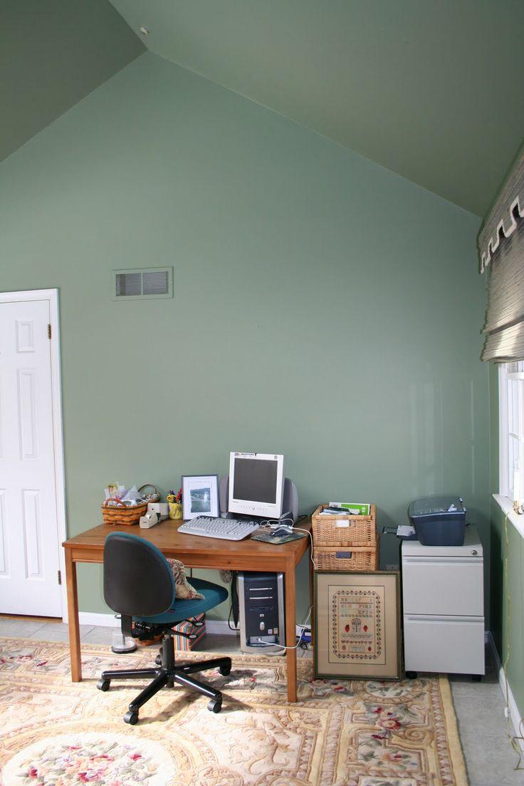 My house wednesday inspiration benjamin moore quot gentleman s gray - Benjamin Moore Kennebunkport Green This Is More How It Looks In My Room