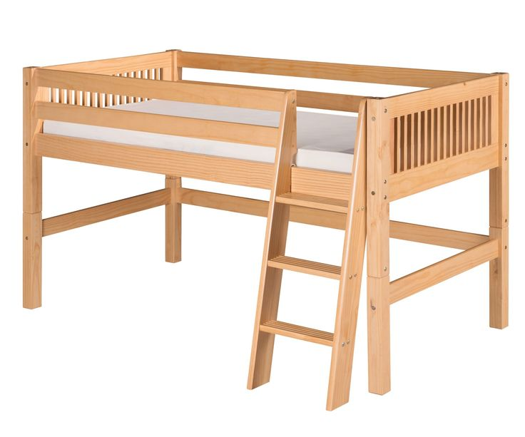 Twin size loft bed in Natural Finish by Camaflexi furniture E411