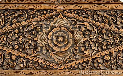 Pattern Of Rose Carved On Wood By Ahmad Faizal Yahya Via