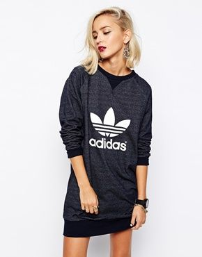 adidas sweatshirt dress